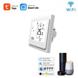 Termostat SMART programabil WIFI controlabil din internet si comanda vocala Google voice si Alexa
